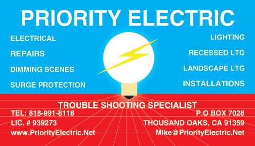 Lake Sherwood Exterior Lighting Business Card